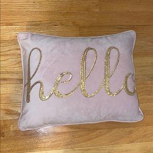 Gold Glitter Pink Throw Pillow